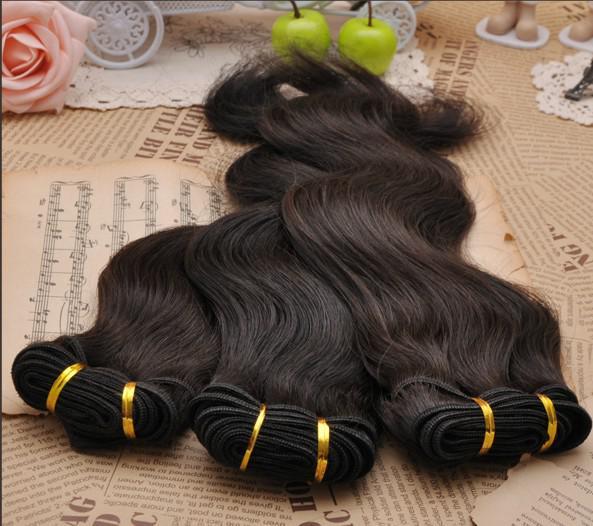 15% de descuento DHL envío gratis 100% virgen brasileña remy pelos humanos trama de la onda del cuerpo trama productos para el cabello mezcla longitud 300 g / lote