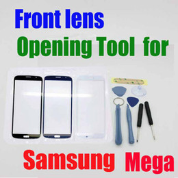 Wholesale Mega Logo - New Arrival Opening Tools and 3M Adhesive with Touch Screen Outer Glass front lens for Samsung Galaxy Mega i9200 9200 with logo goodwillbiz