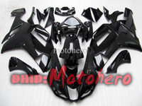 Wholesale Kawasaki 636 Fairings Set - 7Gifts, Full fairings set For KAWASAKI NINJA ZX6R 07-08 ZX-6R 2007 2008 ZX 6R 636 07 08 ABS fairing kit gloss black