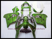 Wholesale Ninja Fairing Zx9r - 7gifts- high quality green white body for ZX 9R 00 01 02 03 ZX9R 2000-2003 2000 2001 2002 2003 ABS fairing kit s7923