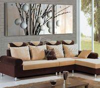 peças decorativas florais modernas venda por atacado-3 Peças de Venda Quente Moderna Planta de Pintura de parede árvore abstrata flor Início Arte Decorativa Imagem Pintura em Cópias Da Lona