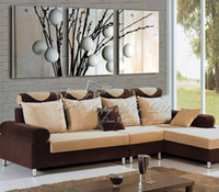 Wholesale Picture Cartoon Flower - 3 Pieces Hot Sell Modern Wall Painting Plant abstract tree flower Home Decorative Art Picture Paint on Canvas Prints