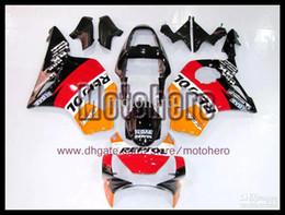 Wholesale Honda Cbr954rr - 7gifts- free shipping red orange white gloss black for 954 CBR900 02 03 02-03 2002 CBR954 CBR900RR ABS bodywork + 3gifts e876
