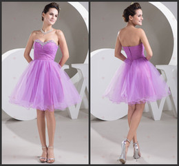 Wholesale Sequin Brooch Green - 2014 purple organza ruffle Princess Strapless Sweetheart Neck Organza With Brooch Zipper Back Sexy bridesmaid Gowns dresses