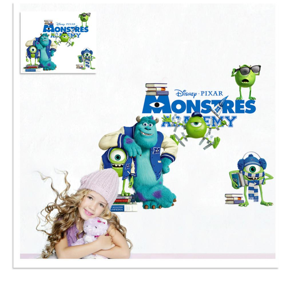wall stickers monster academy cartoon movie poster for kids room wall stickers monster academy cartoon movie poster for kids room decoration removable environmental pvc pictures diy paintings 3d art wall