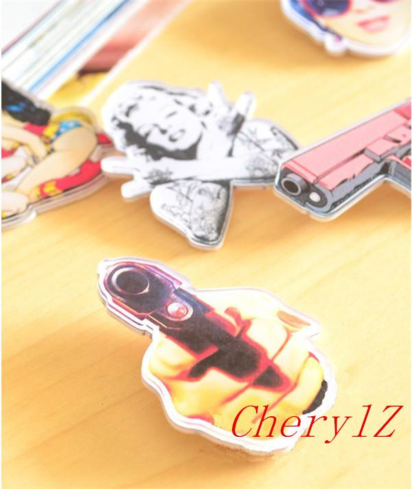 Marilyn Monroe Brooch Hip Hop Rock Style Fashion Jewelry Acrylic Women Brooches Pins Good Quality KA203