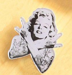 Wholesale Good Rocks - Marilyn Monroe Brooch Hip Hop Rock Style Fashion Jewelry Acrylic Women Brooches Pins Good Quality KA203