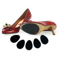 adhesivos para suelas de zapatos al por mayor-1000 par unisex antideslizante suela de zapatos protector de goma almohadillas de agarre pegatina adhesiva para deportes caminar tacones altos 9 * 6.5 cm opp embalaje J03