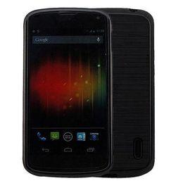 Wholesale Nexus Slip - S5Q Luxury Black Matte Non-slip Soft Gel Cover Case For Google Nexus 4 LG E960 AAACJG