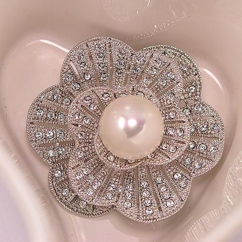 New Design Delicate Diamante Pearl Flower Brooch Hot Selling Cheap Factory Direct Sale Sparkling Gift Women Brooch Pins Free Shipping