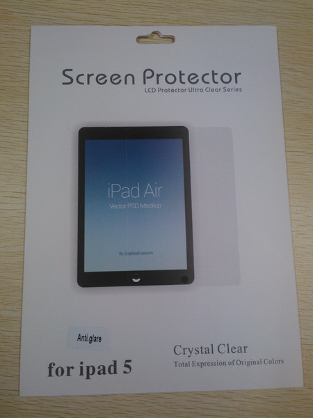 Displayschutzfolie für Ipad 5 Ipad Air High Clear Mattblendschutzfolie für LCD-Bildschirm Schutzfolie mit Tuch mit Kleinpaket