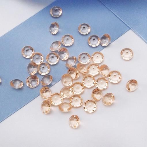 High Quality 6.5mm 1Carat Black Color Diamond Confetti Wedding Party Decoration--