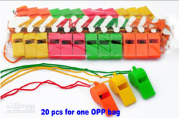 """Wholesale Kids Sports Whistle - New Arrival World Cup Cheerleading Plastic Whistle With Lanyard """"OK"""" Designs Pure Color Whistles Kids Toys Sports Game Accessories"""