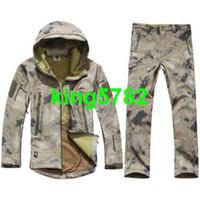 Wholesale Combat Hoodie - TAD V 4.0 Men Outdoor Hunting Waterproof Coats Jacket+pants combat uniform Hoodie