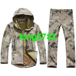 Wholesale Tad V Coats - TAD V 4.0 Men Outdoor Hunting Waterproof Coats Jacket+pants combat uniform Hoodie