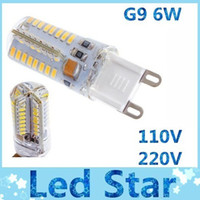 Wholesale G9 Energy Saving Bulbs - High bright SMD LED G9 spotlights warm cool white led bulbs light 64pcs 3014 SMD led lights energy saving 110V 220V