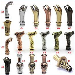 Tapa de goteo de metal online-King Cobra Drip Tips Esqueleto humano Cap Snake Drip tip Boquillas de metal Dragon para CE4 DCT vivi nova innokin iClear 30 Atomizador Clearomizer
