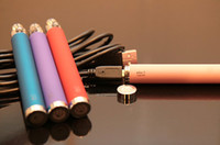 Wholesale Ego Pass Through Chargers - Electronic Cigarette Ego-t USB Battery Pass through Battery Attached USB Line Charger Charging in Bottom