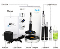 Wholesale circular set - High-end Electronic Cigarette iGo4 E cigarette touch circular charger and blue LED display 750mah Battery with CE4 Atomizer CE6 Clearomizer