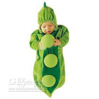 Wholesale Baby Pea Costume - Wholesale - Bran-New Baby Sleeping Bag Grean PEA IN A POD boys girls facy dress costume