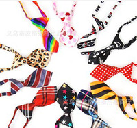 Vente en gros - HOT Fashion Polyester Silk Pet Dog Necktie Adjustable Handsome Bow Tie Necktie Grooming Supplies