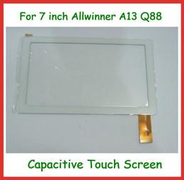 2019 placa auo Tela Sensível Ao Toque de 7 polegada com Tela de Substituição de vidro para 7 polegada Allwinner A13 A23 Q88 Q8 Tablet PC Frete Grátis