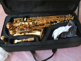 Wholesale Woodwind Musical Instruments - NEW Woodwind Alto Saxophone Student Gold Alto Saxophone Beautiful Musical instruments Free shipping