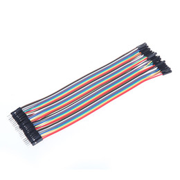 China 40pcs 20cm 2.54mm Male to Female Dupont Wire Jumper Cable for Arduino Breadboard cheap arduino dupont wire suppliers
