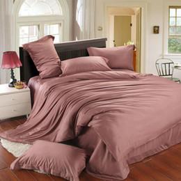 $enCountryForm.capitalKeyWord NZ - Luxury 4pcs brown bedding set king size queen duvet cover quilt doona double bed in a bag sheet linen bedsheet bedspread tencel bedcover