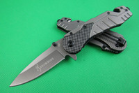Wholesale utility knife china resale online - China knife browing knife X31 knife HRC C blade steel Aluminum fiber handle folding knives hunting camping Utility Favorites knives