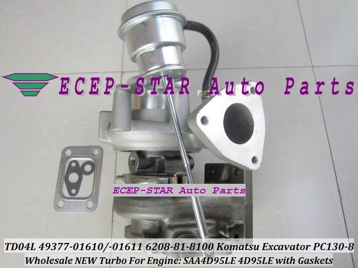 Turbocompresseur de Turbo de TD04L-10GKRC-5 49377-01610 49377-01611 6208818100 pour l'excavatrice SAA4D95LE 4D95LE de KOMATSU PC130-8 avec Joints