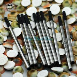 Spedizione gratuita - JINHAO 10 Pezzi standard nero Roller comune penna a sfera Refill da coloranti d'acqua fornitori