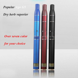 Wholesale Herb Vaporizers Elctronic Cigarette - Dry herb vaporizer AGO G5 Pen-style dry herb soild vaporizers super quality A++ elctronic cigarettes high quality