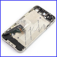 Wholesale Iphone 4s Middle Full Assembly - For iPhone 4 4G 4S OEM Full Mid-frame Middle Chassis Frame Bezel Assembly For iPhone4 iPhone4S Middle Housing Assembly Replacement Part