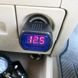 Wholesale Car Led Voltmeter Gauge - S5Q New Digital Led 12V  24V Car Truck System Voltmeter Votage Gauge Volt Meter AAAATQ