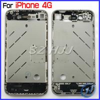 iphone 4s prata venda por atacado-Para iphone 4 4g 4s de alta qualidade oem moldura do chassi médio mid-frame quadro para iphone4 iphone4s habitação meio prata
