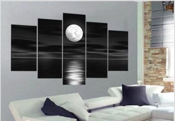 Oil Paintings On Canvas Black White Home Decoration Picture Modern Abstract Landscape Painting Wall Art