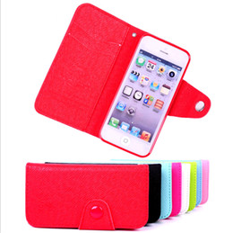Wholesale Note2 Wallet Cases - New Korea MOZ LZB cases Filp wallet PU leather case cover with credit card for Samsung Galaxy S3 note2 iphone 4 4S 5 5G 5S free shipping