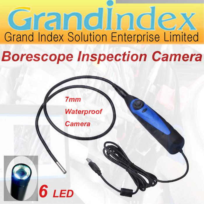 Inspección USB Vídeo 4 LED del endoscopio del animascopio 7mm cámara impermeable de la serpiente GISK001EN Alcance