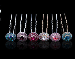 Wholesale Colorful Crystal Comb - 2014 Hot Sale Free Shipping Sparkle Crystal Colorful Rhinestone Wedding Bridal Hairpin Hair Combs Tiaras & Hair Accessories