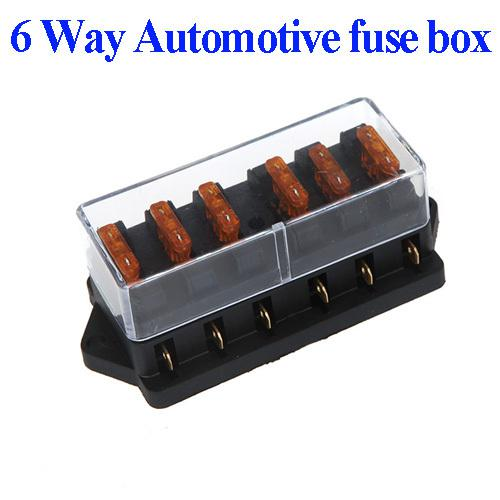 Universal Car Truck Vehicle 6 Way Circuit Automotive Middle-sized Blade Fuse Box Block Holder Wholesale