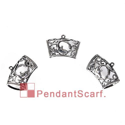 12st / mycket ny ankomst populära DIY halsband smycken halsduk hängande mental legering charm dolphin design glidbaser rör, gratis frakt, AC0249A