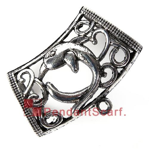 New Arrival Popular DIY Necklace Jewelry Scarf Pendant Mental Alloy Charm Dolphin Design Slide Bails Tube, AC0249A