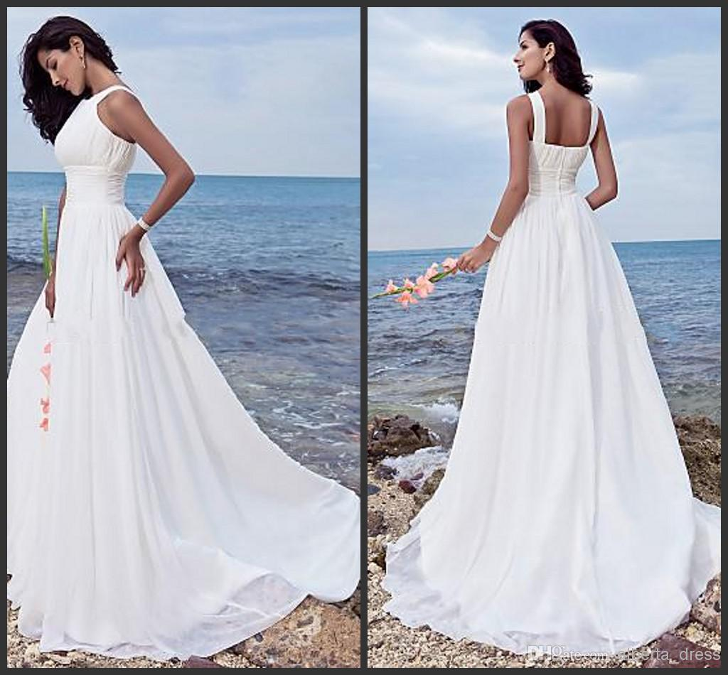 2014 New Design Beach Wedding Dresses Sheath  Column Halter Jewel ... b9445f2e0127