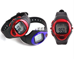 Discount counter watches - Wholesales!PULSE HEART RATE MONITOR CALORIE COUNTER SPORTS WATCH 30 meters waterproof free shipping Best Exercise Fitnes