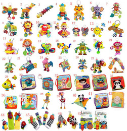 Wholesale Stroller Dolls - Lamaze Toy Crib toys with rattle teether Infant Early Development Toy stroller music Baby doll toy Lamaze Cloth Book Books