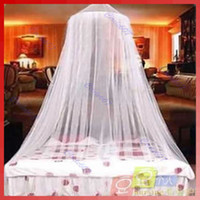 Wholesale Net Canopies - ELEGANT ROUND LACE INSECT BED CANOPY NETTING CURTAIN DOME MOSQUITO NET OUTDOOR