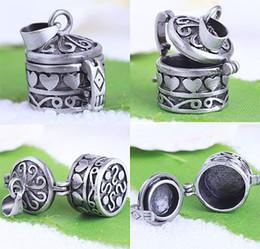 Wholesale Brass Bails - Wish Box Locket With Bail Antique Black Decorative Charm Pendant 50pcs
