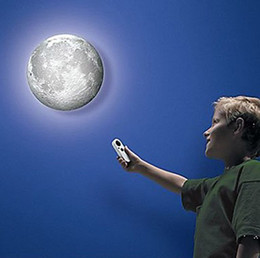Wholesale Moon Room Wall Light - Moon In My Room Healing Moon Night Light Bedroom Wall Lamp + Remote Control