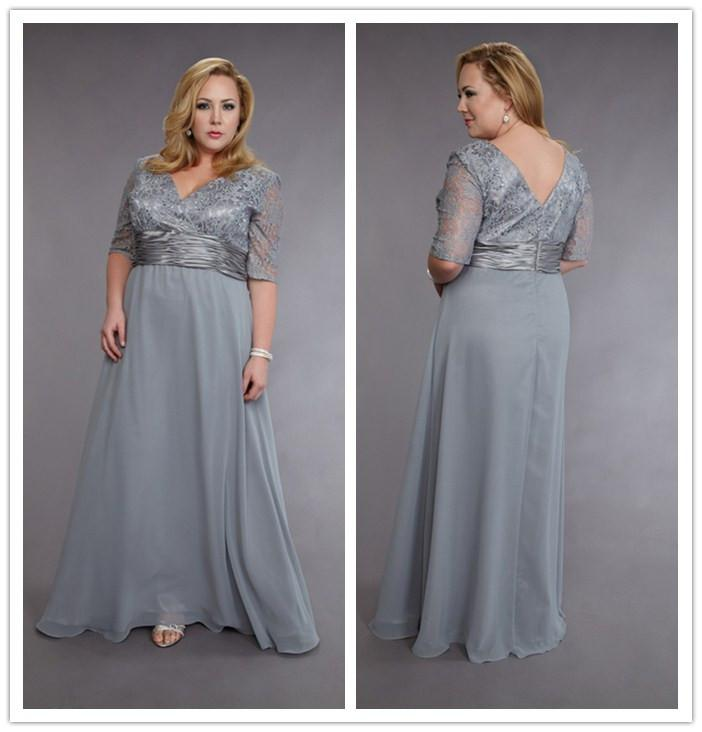 Silver Wedding Dresses For Older Brides: 2015 Silver Plus Size Mother Of The Bride Dresses With